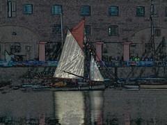 Albert Dock Liverpool in abstract