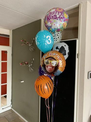 Ballonboeket Dieren Verjaardag 3 Jaar