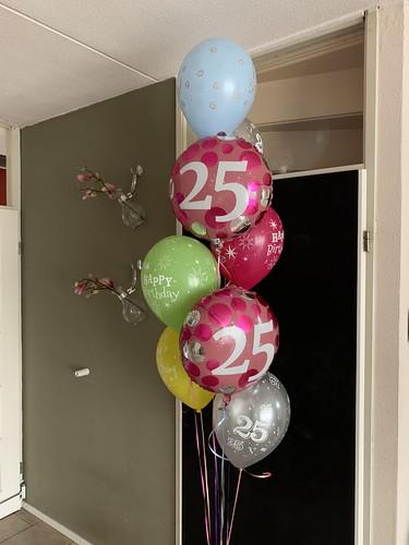 Ballonboeket 25 Jaar Verjaardag