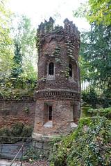 Derelict tower @ Giardino della Villa Belgiojoso Bonaparte @ Milan