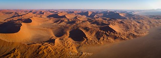 Namib desert from above