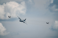 C-130 and F-16s Flyover - Minnesota National Guard