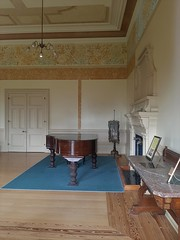 Adelaide. Urrbrae. The ballroom of Peter Waite's 1891 mansion. Note grand piano and mable topped side table. Now used for concerts. House donated to the University of Adelaide in 1922.
