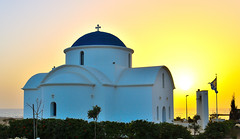The Church at sunset