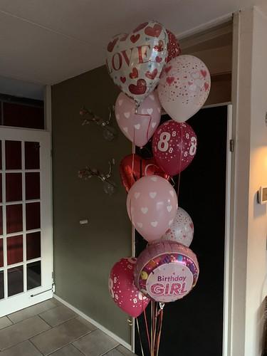 Ballonboeket Verjaardag 8 Jaar Liefde XXL