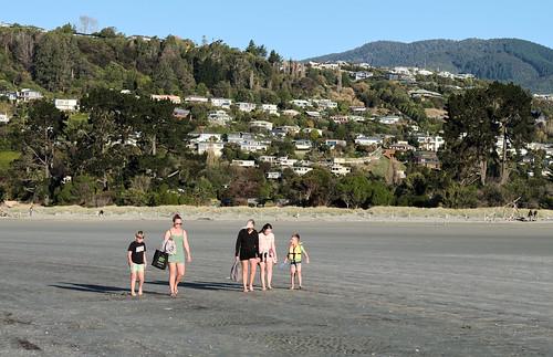 Tahunanui Beach at lockdown level 3
