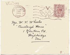 VE day cover with special post mark