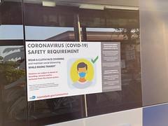 Corona Virus Notice on Metro Dade Transit Bus