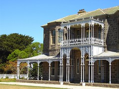 Winchelsea. Facade of Barwon Park house. Near Geelong.