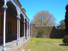 Winchelsea. Side view of Barwon Park mansion.