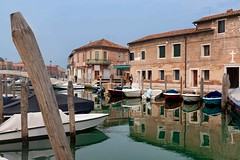 Canal on the island of Murano, Venice, Italy