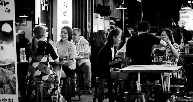 Back alley diner in Gangnam