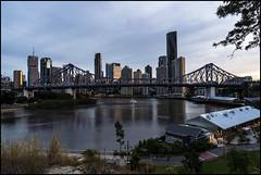 Brisbane Story Bridge at dusk-3=