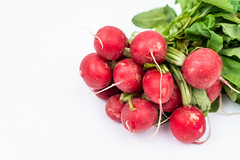 Red Radishes isolated above white background