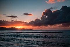 Coucher de soleil, Plage du Souffleur, Port-Louis, Grande Terre, Guadeloupe