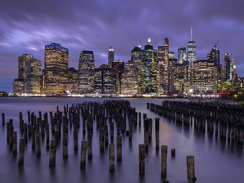 New York City, Lower Manhattan Blue Hour