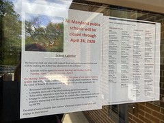 All Maryland public schools will be closed through April 24, 2020
