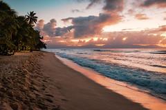 Après le coucher de soleil, Plage du Souffleur, Port-Louis, Grande Terre, Guadeloupe