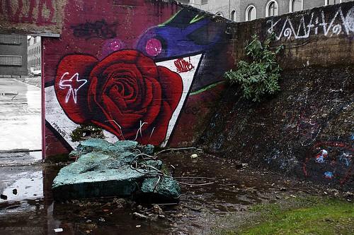 Rose , Streetart Ghent, Belgium