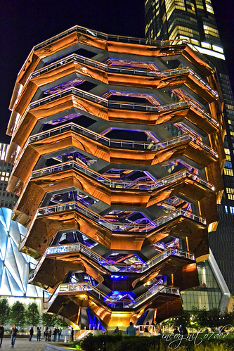 The Vessel at Night Hudson Yards Manhattan New York City NY P00523 DSC_9443