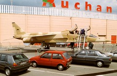 11-YG /1 BAC Jaguar E fibre-glass replica at Auchan Boulogne -sur-Mer during Spring 1991
