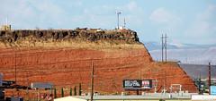 Angular unconformity (basalt lava flow over redbeds; St. George, Utah, USA) 1