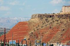 Angular unconformity (basalt lava flow over redbeds; St. George, Utah, USA) 7