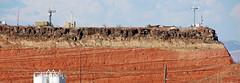 Angular unconformity (basalt lava flow over redbeds; St. George, Utah, USA) 5