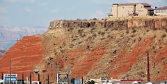 Angular unconformity (basalt lava flow over redbeds; St. George, Utah, USA) 6