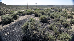 Gilsonite piled up next to Cowboy Dike (north of Bonanza, Utah, USA) 4