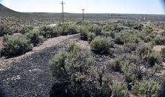 Gilsonite piled up next to Cowboy Dike (north of Bonanza, Utah, USA) 3