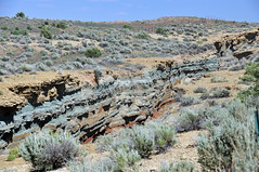 Cowboy Dike (gilsonite dike in the Uinta Formation, Middle Eocene; north of Bonanza, Utah, USA) 5