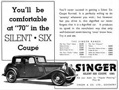 1933 Singer Silent Six Coupe