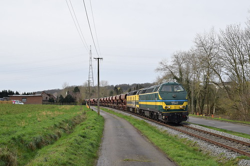 28-02-2020 TUC RAIL 5540 + 5508 + ballasttrein, Ripain Chemin de Renghihaye