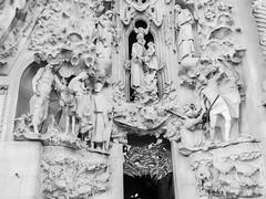 A facade detail on La Sagrada - Barcelona