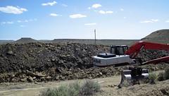 Mining gilsonite (Cowboy Dike; north of Bonanza, Utah, USA) 1