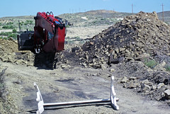 Mining gilsonite (Cowboy Dike; north of Bonanza, Utah, USA) 6