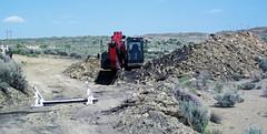 Mining gilsonite (Cowboy Dike; north of Bonanza, Utah, USA) 4