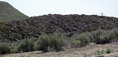 Gilsonite & waste material piled up next to Cowboy Dike (north of Bonanza, Utah, USA) 2
