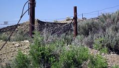 Gilsonite piled up next to Cowboy Dike (north of Bonanza, Utah, USA) 12