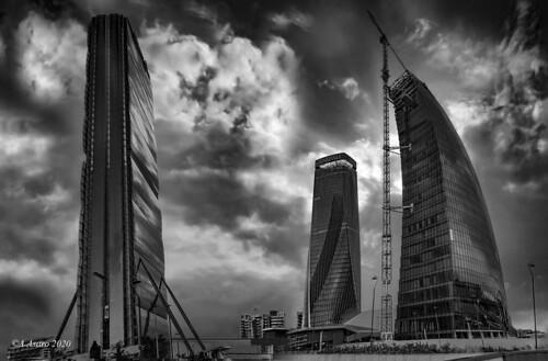 Tre torri. Milan City Life district.
