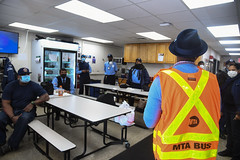 Councilmember Miller Delivers Lunches to MTA Employees Baisley Park Depot