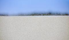 Sand grains saltating over a dune crest (Oregon Dunes, Florence, Oregon, USA) 2