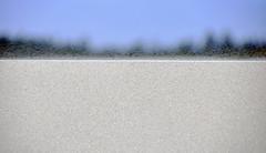 Sand grains saltating over a dune crest (Oregon Dunes, Florence, Oregon, USA) 1