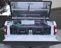 An Aluminum Truck Bed Cover On An F150