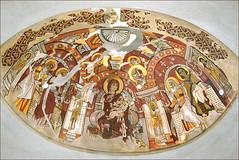 La Vierge allaitant, art copte (Monastère rouge, Haute Égypte)
