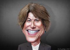 Christina Paxson - Caricature