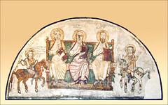 Fresque du monastère Saint-Apollon, musée copte du Caire (Égypte)