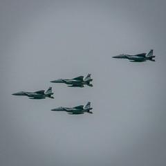 F15C Eagle Fighter Jets Flyover , Fremont CA