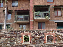 Brick Behind Bluestone